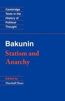 Bakunin: Statism and Anarchy ebook