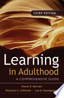 Learning in Adulthood Book
