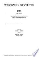 Wisconsin Statutes, 1953  , Band 2