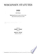 Wisconsin Statutes 1953