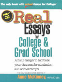 Real Essays for College & Grad School