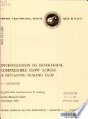 Investigation Of Isothermal Compressible Flow Across A Rotating Sealing Dam Book PDF