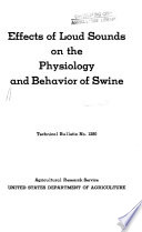Effects of Loud Sounds on the Physiology and Behavior of Swine