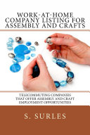 Work-at-Home Company Listing for Assembly and Crafts