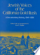 Jewish Voices of the California Gold Rush