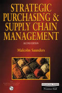 Strategic Purchasing and Supply Chain Management