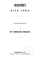 Shakspere s Werke  King John  King Richard II  King Henry IV  part 1  King Henry IV  part 2  Henry V