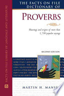 """""""The Facts on File Dictionary of Proverbs"""" by Martin H. Manser, Rosalind Fergusson, David Pickering"""