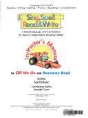 Sing  Spell  Read   Write Book PDF