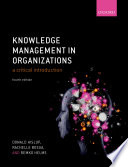 Knowledge Management in Organizations Book