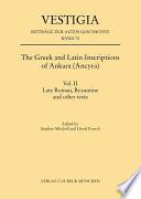 The Greek and Latin Inscriptions of Ankara  Ancyra