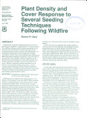Plant Density and Cover Response to Several Seeding Techniques Following Wildfire