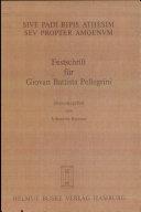 Festschrift für Giovan Battista Pellegrini: