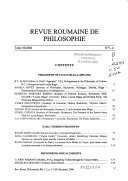 Revue roumaine de philosophie