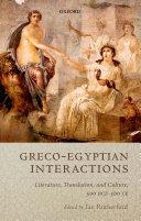 Graeco Egyptian Interactions
