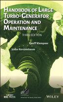Handbook of Large Turbo-Generator Operation and Maintenance Pdf/ePub eBook
