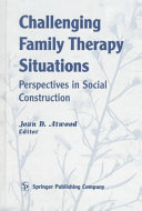 Challenging Family Therapy Situations Book
