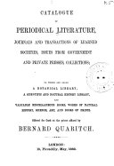 Catalogue of Works on Natural History  Physics  Mathematics  and Other Sciences