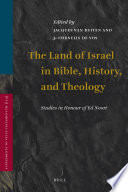 The Land Of Israel In Bible History And Theology
