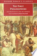 """""""The First Philosophers: The Presocratics and Sophists"""" by Robin Waterfield"""