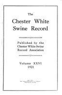 Chester White Swine Record
