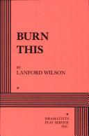 Burn this Pdf/ePub eBook