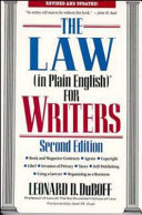 The Law (In Plain English)? for Writers