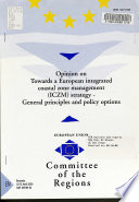 Opinion of the Committee of the Regions of 12 April 2000 on Towards a European Integrated Coastal Zone Management (ICZM) Strategy, General Principles and Policy Options