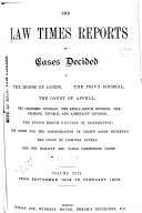 The Law Times Reports Book PDF