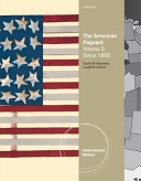 The American Pageant  Volume II Book