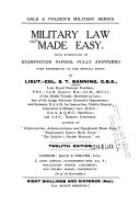 Military Law Made Easy
