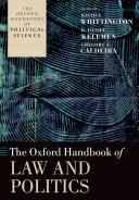 Pdf The Oxford Handbook of Law and Politics