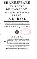 Shakespeare traduit de l'anglois dédié au Roi ebook