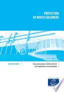 Protection of whistleblowers   Recommendation CM Rec 2017 7 and explanatory memorandum