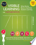 Visible Learning for Mathematics  Grades K 12 Book