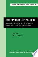 First Person Singular II