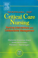Cover of Manual of Critical Care Nursing
