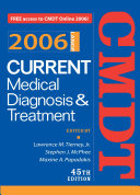 Current Medical Diagnosis   Treatment  2006 Book