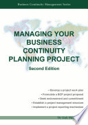 Managing Your Business Continuity Planning Project