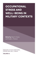 Occupational Stress and Well-Being in Military Contexts