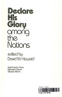 Declare His Glory Among The Nations Book PDF
