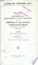 Judicial Tenure Act