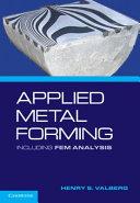 Pdf Applied Metal Forming