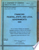 Financing Federal State And Local Governments 1941
