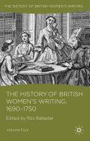 The History of British Women's Writing, 1690 - 1750 [Pdf/ePub] eBook