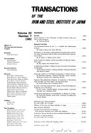 Pdf Transactions of the Iron and Steel Institute of Japan