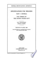 Specifications for Welding ...
