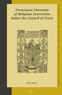 Franciscan Literature of Religious Instruction Before the Council of Trent