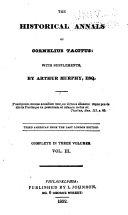 The Historical Annals of Cornelius Tacitus