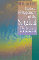 Medical Management of the Surgical Patient Book